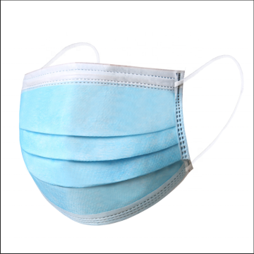 3 ply face mask with blue medical