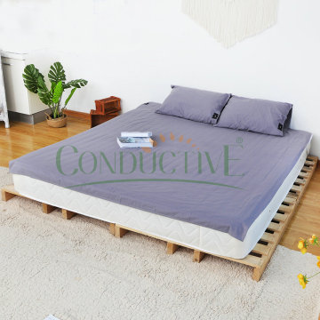 Grey Colour Earth Connection Bed Flat Sheets