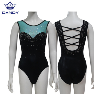 Custom sleeveless gymnastic leotards