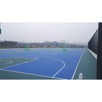 Outdoor interlocking floor basketball court tiles