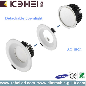 White Mini LED Downlights Dimmable 9W