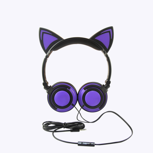 Cartoon Style Wired LED Novelty Light-up Headphones