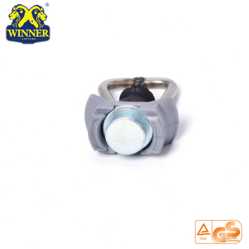 Plastic Base Single Stud Fitting With Steel D Ring