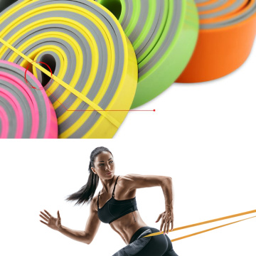 Unisex Dual Color Elastic Stretch Exercise Resistance Band