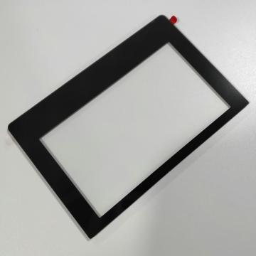 Silk Screen Glass Window With Black Printing
