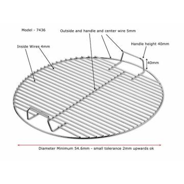 Promotional BBQ Round and Square Food-Grade Grill Netting