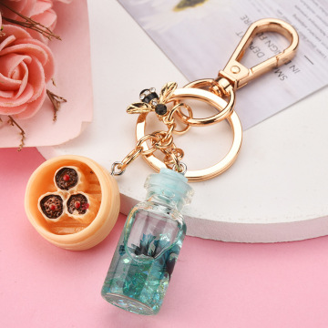 Bottle Liquid Keychain Accessories