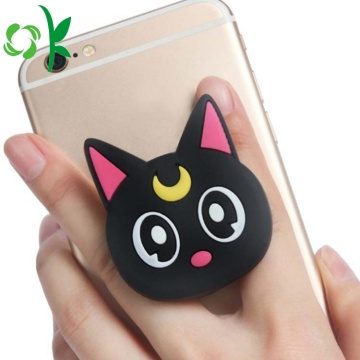 Cartoon Animal Cat Silicone Mobile Cell Phone Holder