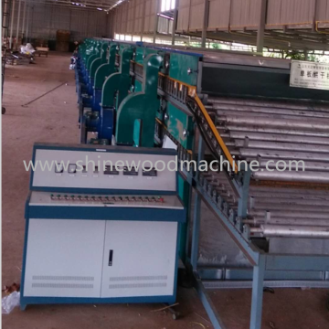 Roller type veneer dryer