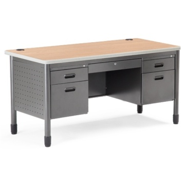 Steel Office Classic Desk With Two Cabinet