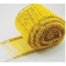 pvc coated yellow double loop wire ties