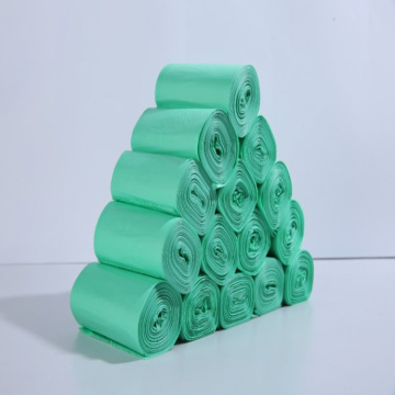 Green 100%biodegradable cornstarch plastic trash bags
