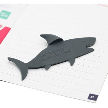 Cartoon BPA Free Shark Shape Silicone Bookmark