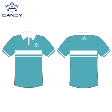 Sublimation mesh polo uniforms