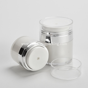 15g 30g 50g acrylic white and silver cosmetic cream airless jar Cosmetic packaging skin care cream container