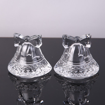 Hot Sell Bell Shape Glass Ornament/Tealight Candle Holder