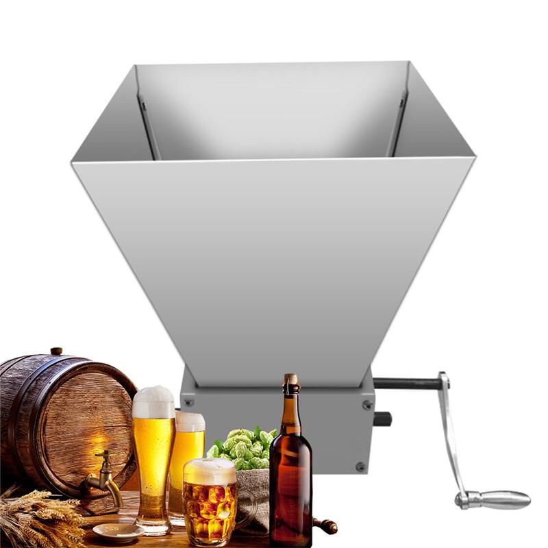 Newest Stainless Barley Malt Mill Grain Grinder Crusher Hand Craft Grain Mill Crusher Home Brew Beer Machine Wholesale