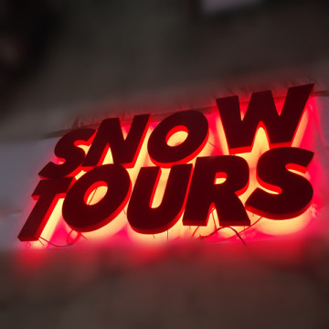Outdoor Metal Letters Signs with LED Lights