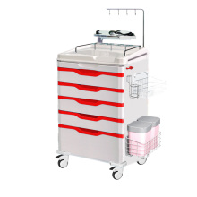 Hospital ABS Steel Emergency Trolley Crash Cart