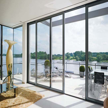 Lingyin Construction Materials Ltd Chinese modern designed  aluminium framed sliding glass door