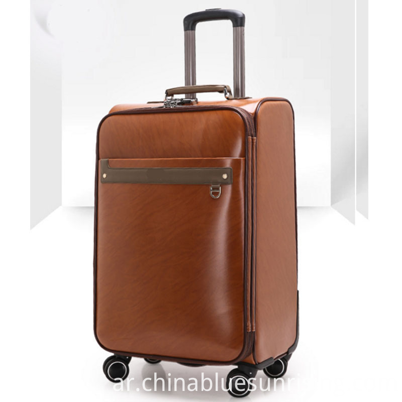 4 wheels pu luggage