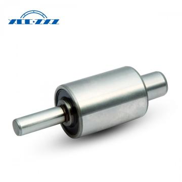 Water pump shaft with shaft bearing