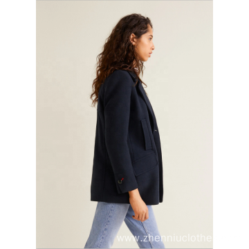 Young Ladies Regular Slim Fake Wool Coat