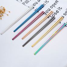 Stainless steel square hotel restaurant metal chopsticks
