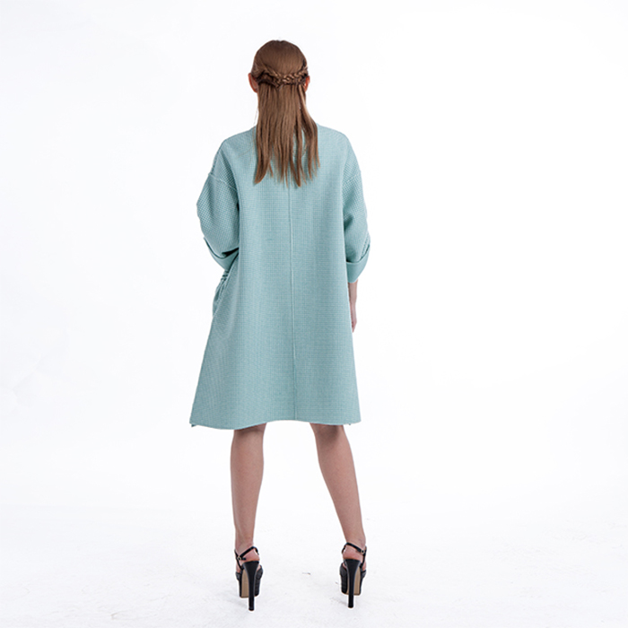 Fashion Lantern Sleeve Cashmere Overcoat