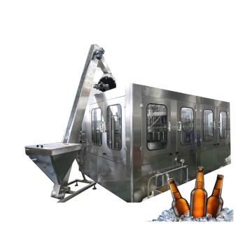 Glass Bottled Beer Filling Packing Machine
