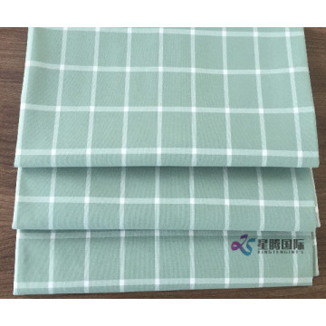 Plaid 100% Polyester Woven Fabric For Shirt
