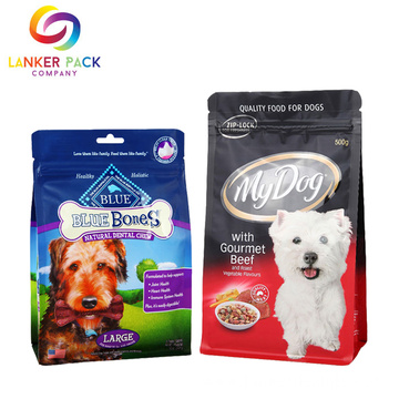 Large Capacity Plastic Zipper Pet Food Bag