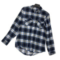 Fashion Autumn Casual Gray And Blue Flannel Shirt