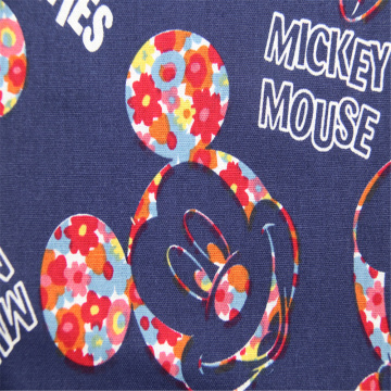 Mickey Mouse Pattern With Cotton Plain Printing