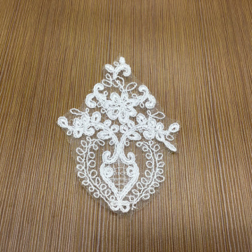 New line rope lace applique flower embroidery patch