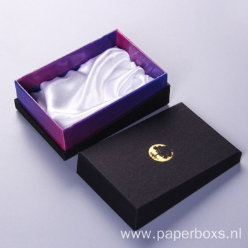 Customized Foil Logo Printed Cardboard Box with Lid