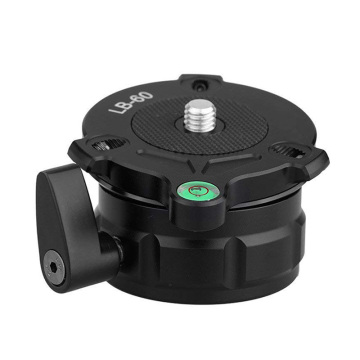 KINGJOY LB-60 69mm Speedy Adjustable Leveling Base Panning Level With Offset Bubble Level For All Tripods With 1/4 thread