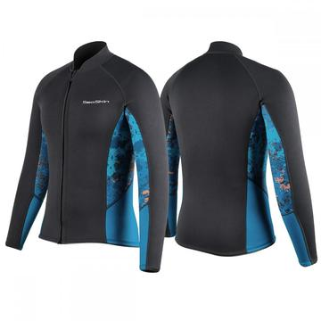 Seaskin 2mm Jacket Long Sleeve Neoprene Wetsuits Top