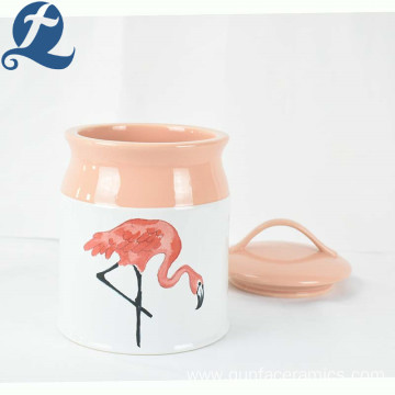High quality custom candy storage decal container ceramic canister