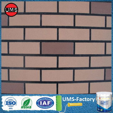 Faux brick spray paint effect