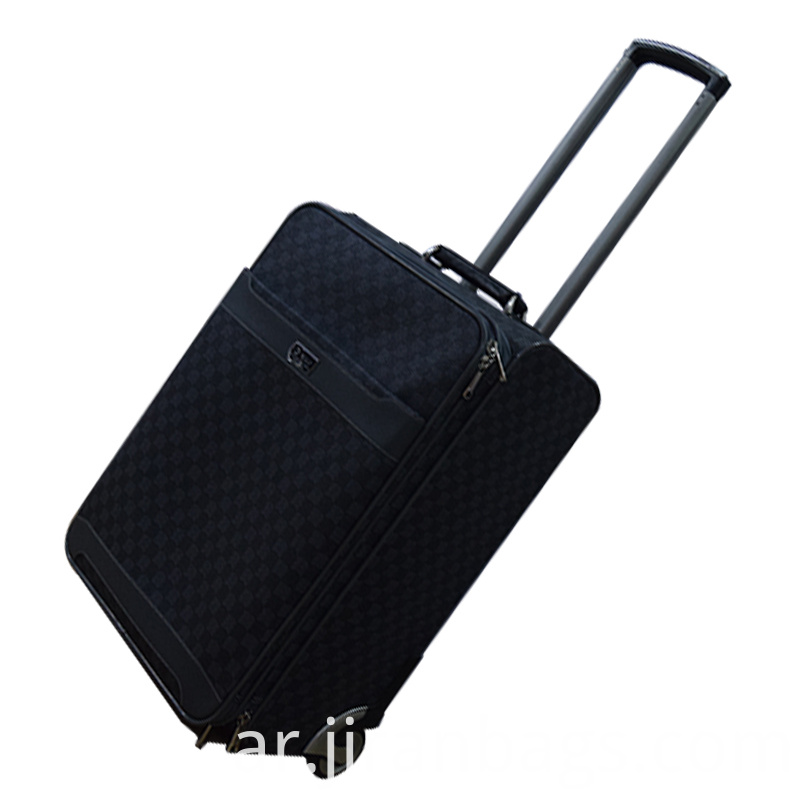 Black carry on trolley case