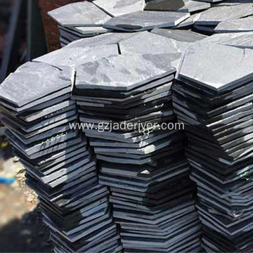 Natural Black Slate Stone Hex Brick