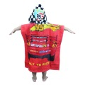 Kids hooded beach poncho towel  printed