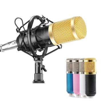 BM800 Condenser Studio Broadcasting Singing Microphone Podcast Recording Mic for ios Android Cell Phone Laptop Tablet Recording