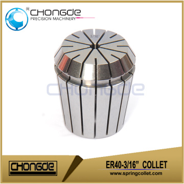"ER40-3/16"" Precision Collet Clamping Range 0.187"" - 0.148"""