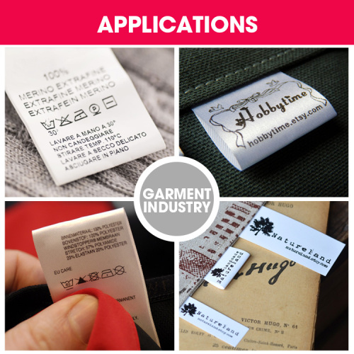 Printed Waterproof Clothing Washing Care Sewing Tags Labels