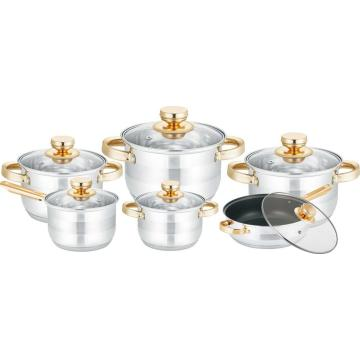12pcs cookware set with non-stick coating
