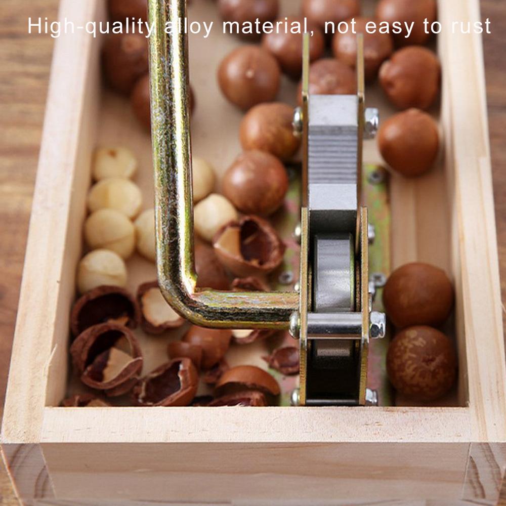 Heavy Duty Nutcracker Nut Tweezers Macadamia Opener Peeling Machine With Durable Metal Handle For Hazelnuts Almonds