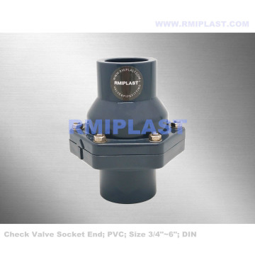 PVC Swing Check Valve Socket ANSI