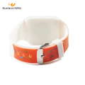 Full color printing 13.56mhz silicone rfid wristbands